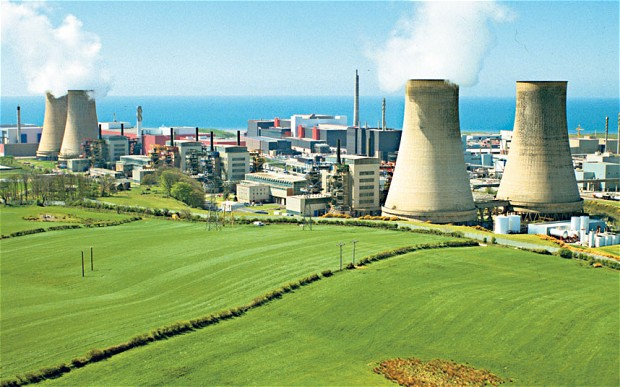 The world's first nuclear power station at Calder Hall in England