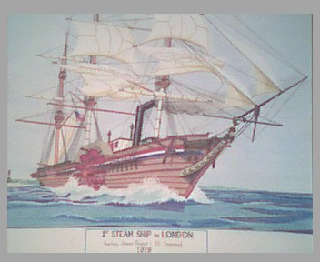 S.S Savannah – a hybrid steamship/sailing ship