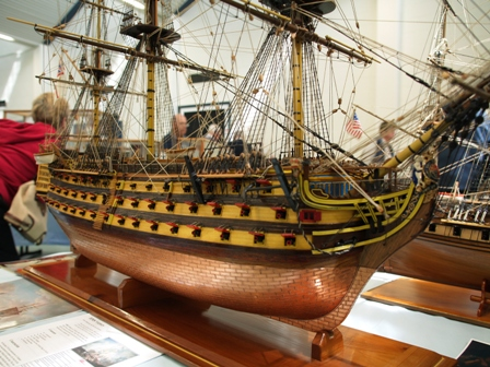 A finely detailed model of a Sailing Ship