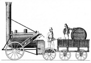 "George Stephenson's ""The Rocket"""