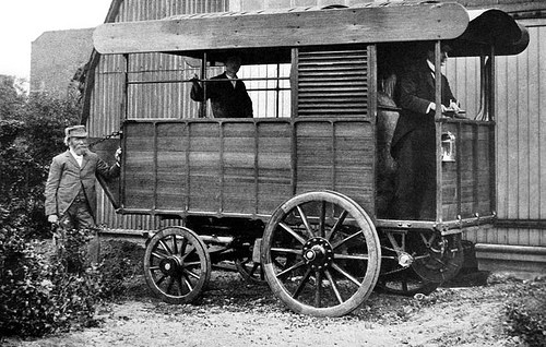 Thorneycroft's first steam Van